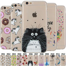 Ultra Thin Clear Silicone Soft TPU Cute Rubber Case Cover For Apple iPhone 5 6 7