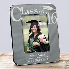 Personalized Graduation Gift Silver Picture Frame Engraved Class of Photo Frame