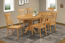 """M&D FURNITURE 42"""" x 78"""" OVAL DINETTE DINING ROOM TABLE SET WOODEN SEAT"""