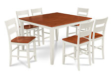 """M&D FURNITURE 54"""" SQUARE SUNDERLAND COUNTER HEIGHT PUB DINING TABLE SET"""