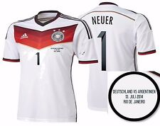 ADIDAS M. NEUER GERMANY AUTHENTIC FINAL GAME JERSEY FIFA WORLD CUP BRAZIL 2014