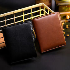 QB02 Baborry PU Leather Zipper Men Wallets Card holder Coin Money Purse BE