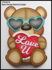 Love Bear Premade Paper Piecing Die Cut for Scrapbook Page byBabs