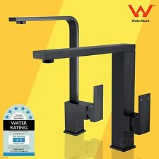 Brass Square Black Swivel Basin Sink Mixer Kitchen Laundry Faucet Tall Tap Spout