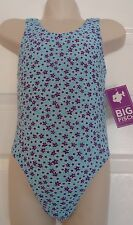 Girls Big Fisch Swimming Costume Blue Purple 2 3 Holiday Pool Swimsuit Beach