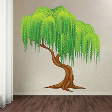 Weeping Willow Tree Wall Decal Mural Plant Wall Vinyl Painting Wall Art, s44
