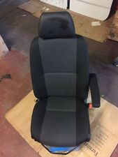VW CRAFTER 2017 DRIVERS SEAT WITH ARMREST & LEATHER HEADREST - CAMPER VAN PARTS