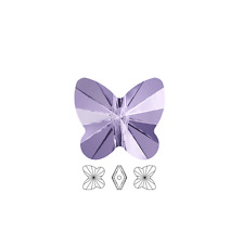 12 Swarovski Crystal Beads Faceted Butterfly 5754 8x7mm, 12 Butterfly 5045 8x7mm