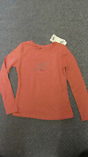 Girls Mayoral Coral /Pink T-shirt with Logo Detailing Size 8 Yrs BNWT