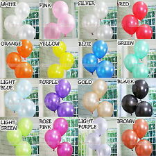 "100Pcs Multi-Color 12"" Pearl Latex Balloons Birthday Wedding Baby Party"