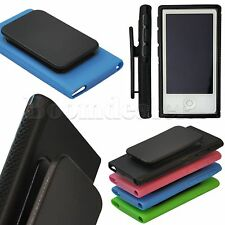 Belt Clip Case TPU Gym Running Soft Gel Cover for Apple iPod Nano 7 7th Gen