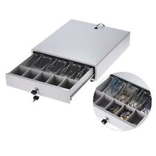 Electronic POS Cash Register Drawer Case Box Key Lock w/4 Bill 5 Coin Trays B6K5