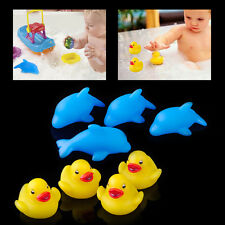 4xFunny Bathing Duck Dolphin Colorful Flashing Changing Light Lovely Toy Baby