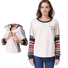 New Long Sleeve pregnancy Maternity Clothes Nursing Top Breastfeeding T-shirt