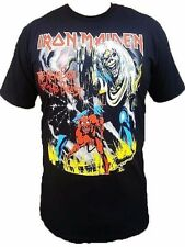 Iron Maiden Mens Band T-Shirt Number Of The Beast Black Tee SM-2X