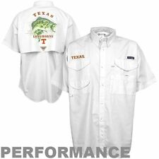 NEW MENS COLUMBIA PFG TEXAS LONGHORNS GRAPHIC BONEHEAD Shirt White Medium RARE
