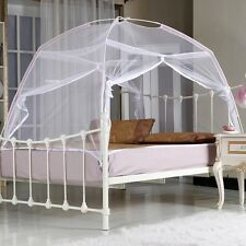White Portable Folding Mosquito Net Tent Freestand bed Twin Double Queen King