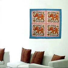 Indian Ethnic Embroidered Tapestry Elephant Handmade Wall Hanging Home Decor Art
