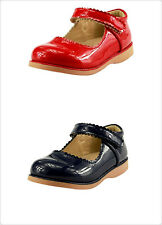 Girl's School Dress Classic Shoes Glossy Red or Blue Mary Jane Toddler size