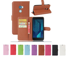 PU Skin Wallet Flip Leather Stand Pouch Cover Case For HTC One X10 / BOLT / A9S