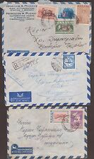 1948/1956 GREECE LOT OF THREE AIR MAILED COVERS.