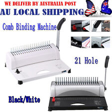 21 Holes Professional Paper Comb Binding Machine A4 Plastic Coil Punch Binder GE