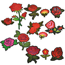 1 Set Rose Sun Flower Embroidered Patches Appliques Iron On Sewing DIY Patchwork