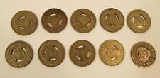Lot of 10 Vintage Chicago Transit Authority CTA Tokens Bus Train
