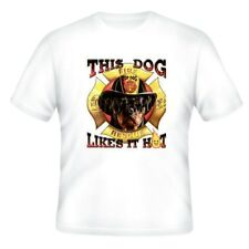 Fire Ems Police T-shirt This Dog Likes Hot Firefighters Fireman Firemen Rescue