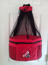 Koozie Coca Cola Backpack Insulated Cooler Tote Bag Beach Pool logo embroidered