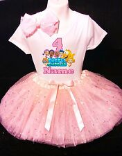 Bubble Guppies 4th Birthday dress --With NAME-- party Tutu outfit