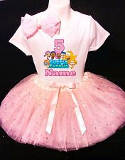 Bubble Guppies 5th Birthday dress--With NAME-- party Tutu outfit