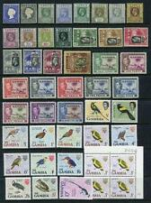 Gambia QV - QEII MM & MNH Lot in MIxed condition.