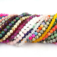 "wholesale natural matte gemstone spacer beads 4mm 6mm 8mm 10mm strand 15.5"" DIY"