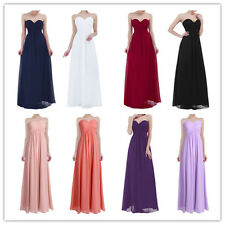 Women's Elegant Chiffon Wedding Cocktail Party Evening Formal Long Dress 4-16