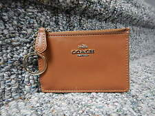 COACH BROWN LEATHER COIN PURSE WITH ID WINDOW NWOT