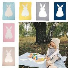 Baby Knitting Wool Rabbit Bunny Blanket Handmade Crocheted Sofa Beach Quilt Rug