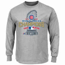Chicago Cubs Majestic 2016 World Series Champions Locker Room Long Sleeve Shirt