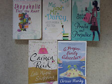 COLLECTION OF 5 x CHICK LIT PAPERBACK BOOKS - SOPHIE KINSELLA, CHRISSIE MANBY