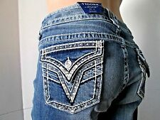 VIGOSS Jeans RHINESTONE Embellishe The New York Cropped Capri Jeans PLUS SIZE
