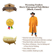 Western Saddle Slicker Rain Gear for Trail and Ranch Riding [Men's Small - 3XL]