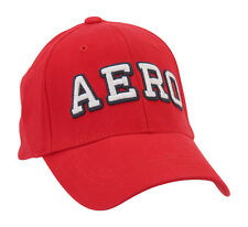 aeropostale mens block aero fitted hat red