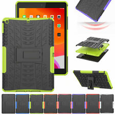 Hybrid Rugged Shockproof Armor Grip Rubber Hard Stand Case Cover For Apple iPad