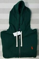 NWT Polo Ralph Lauren Hoodie Full Zip fleece Sweatshirt Pony Logo Green L,XXL