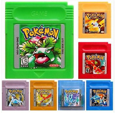 POKEMON blue,green,gold ,red yellow,crystal,silver nintendo Game Boy Colors gbc