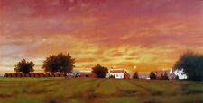 """Raymond Knaub, """"Farm at Dusk"""", poster, 16.5""""h x 27""""w, signed or unsigned"""