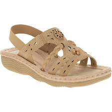 Earth Spirit US Shoes Size Women's Sandal Leather Suede Comfort Casual Slip On