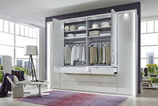 WIEMANN GERMAN CASTELLO 4 DOOR BIFOLD WARDROBE BEDROOM WHITE HAVANA FITTED FREE