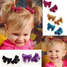 50pcs/lot shiny Sequin Bow Children Hair Accessories Kids Baby Girls Hair Clips