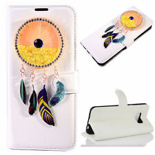 3D Wind chimes Bling Heart Quicksand Flip Wallet Case For Samsung Galaxy Model